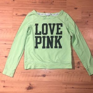 VS PINK Lime Green Pullover